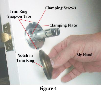 Removing Interior Doorknobs